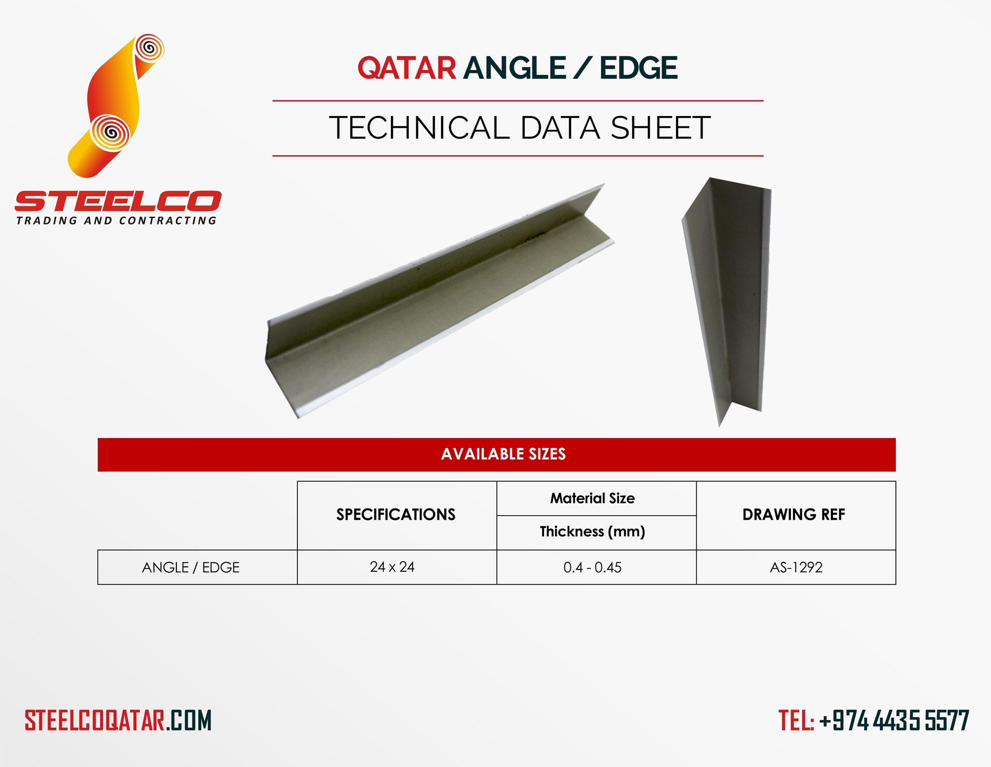 Size and Specifications Structural Angle Bar or L Angle Suppliers Qatar